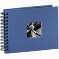 Detail produktu - Hama album klasické spirálové FINE ART 24x17 cm, 50 stran, azurové