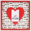 Detail produktu - Hama portrétový rámeček dřevěný LOVE, 21,2 x 21,2 cm