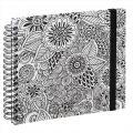 Detail produktu - Hama album klasické spirálové COLORARE 28x24 cm, 50 stran, flowers, bílé listy