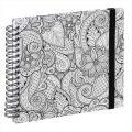 Detail produktu - Hama album klasické spirálové COLORARE 28x24 cm, 50 stran, tendrils, bílé listy