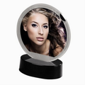 Detail produktu - Hama portrétový rámeček LED, kruhový, 8,2 x 8,2 cm, černý