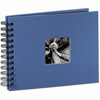 Hama album klasické spirálové FINE ART 24x17 cm, 50 stran, azurové - zvětšit obrázek