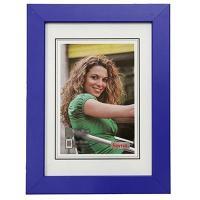 Hama rámeček dřevěný JESOLO, modrá, 15x21cm - zvětšit obrázek