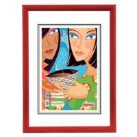 Hama rámeček plastový MADRID, červený, 21x29,7cm - zvětšit obrázek
