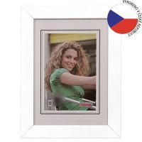 Hama rámeček dřevěný JESOLO, bílá, 13x18cm - zvětšit obrázek