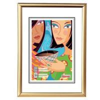 Hama rámeček plastový MADRID, zlatý matný, 13x18cm - zvětšit obrázek