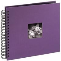 Hama album klasické spirálové FINE ART 28x24 cm, 50 stran, lila - zvětšit obrázek