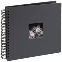 Hama album klasické spirálové FINE ART 28x24 cm, 50 stran, šedé - zvětšit obrázek